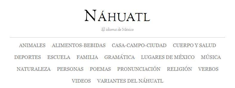 nahuatl-vocabulario