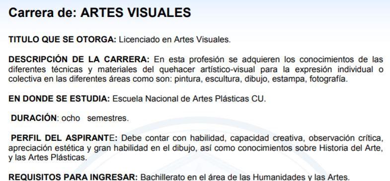 licenciaturas